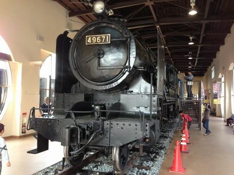 SLキューロク館内、蒸気機関車
