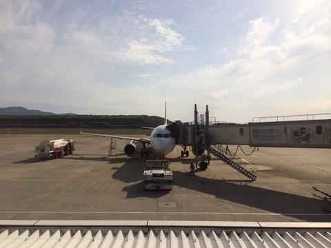 長崎空港にて peach MM177
