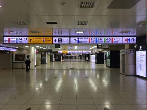 午前0時過ぎの東京駅