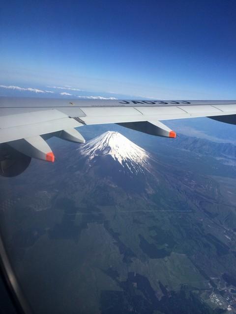 Jetstar から見下ろす富士山