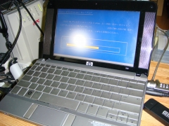 HP 2133 Mini-Note に Windows XP Professional をインストール中