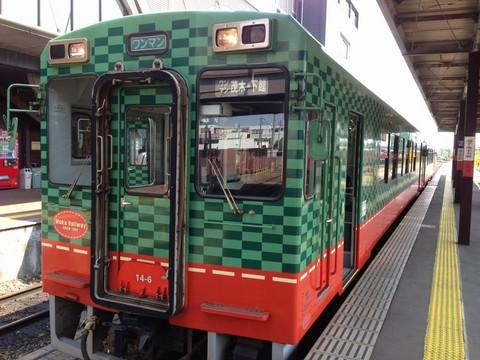 真岡駅と汽車